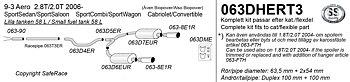 """SPORTAVGASSYSTEM 2,5"""" SAAB 9-3 II, 1,8 2,0T, 2,8 T  Aero -""""Duplex"""""""