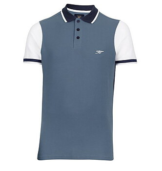ARSENAL 1886 CONTRAST SLEEVE POLO