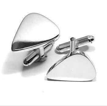 Manschettknappar i silver plektrum