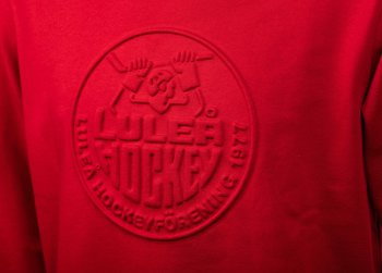 Sweatshirt Embossing - Röd