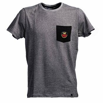T-shirt grå med ficka