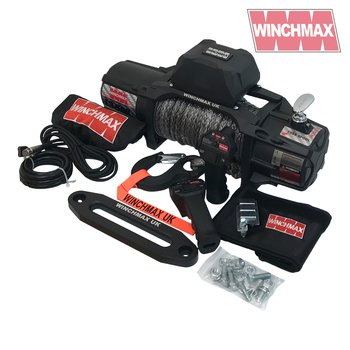 WINCHMAX 13,500lb (6,123kg) 'SL Series' Military Grade 12v Electric Winch, Dyneema rope, Twin Wireless Remote Control