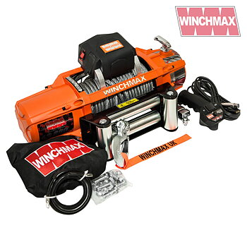 WINCHMAX 13,500lb (6,123kg) 'SL Series' Original Orange 12v Electric Winch, Twin Wireless Remote Control