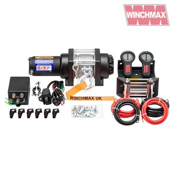 WINCHMAX 3,000lb Military-Grade, Marine, Boat Trailer 12V Electric Winch, Twin Wireless Remote Control