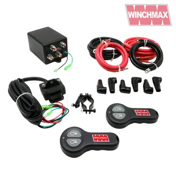 WINCHMAX Complete 12V Electric Winch Control Box, Handlebar Switch, Twin Wireless Remote Control