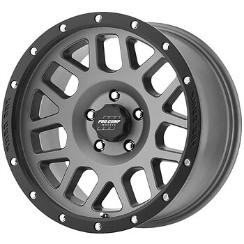"PRO COMP ALLOY WHEEL  9X17"" 5X127 ET -6 - 2640 GRAY / BLACK - JK"