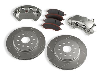 TERAFLEX FRONT BIG BRAKE KIT WITH SLOTTED ROTORS