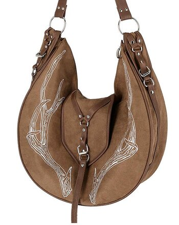Pagan Antlers Brown - Hobo Bag