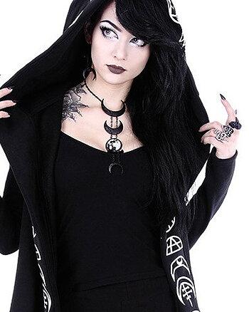 Black Lunar Phases - Halsband