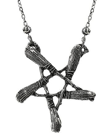 Broom Pentagram - Necklace
