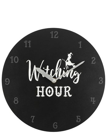 Witching Hour Black - Wall Clock