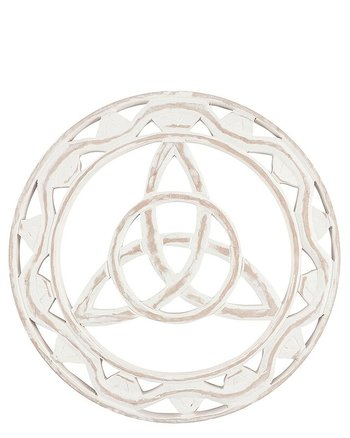White Wood Triquetra - Wall Plaque