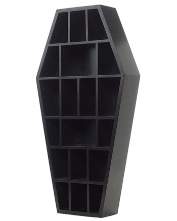 Black Curio Coffin - Wall Shelf