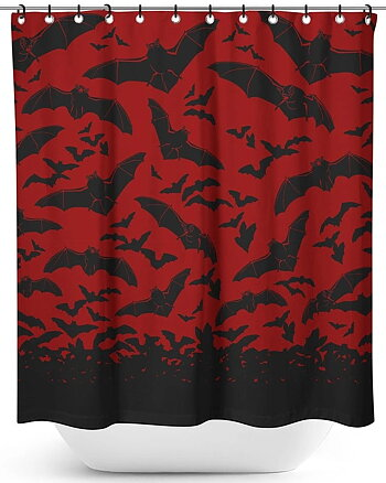 Spooksville Bats - Shower Curtain