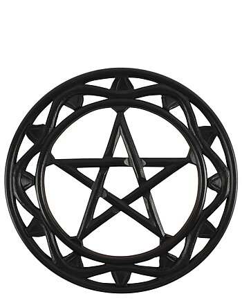 Black Wood Pentagram - Wall Plaque