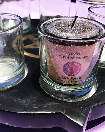 Golden Pentagram 7 candles - Tea Light Holder