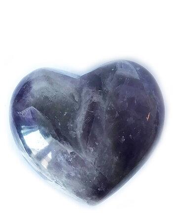 Amethyst Heart 5 cm - Palm Stone