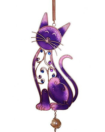 Purple Cat - Windchime