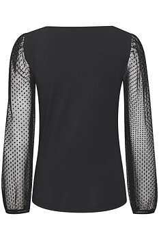 Saint Tropez Dyveke Blouse LS Black Dots