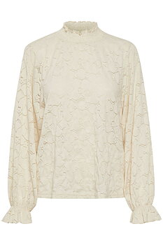 Cream Lacia Blouse Eggnog