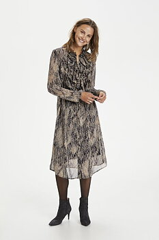 Saint Tropez Lilly Ruffle Dress Total Eclipse Rain