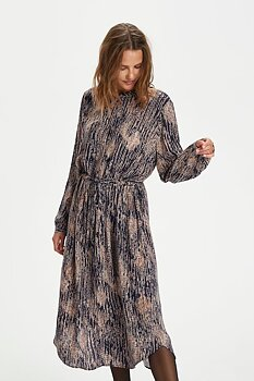 Saint Tropez Eleia Long Dress Total Eclipse Rain