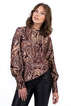 Capri Collection Amberly Blouse Bordeaux/Camel/Black