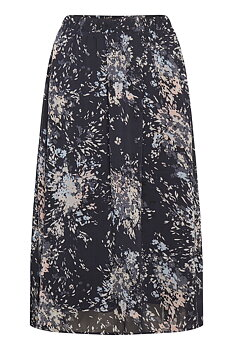 Saint Tropez Florence Skirt Blue Deep Flower Firework