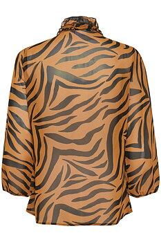 Saint Tropez Ruffle Lilly Shirt Pecan Zebra Skin