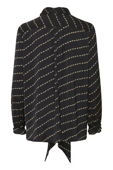 Saint Tropez Debbie LS Shirt Black Flower Row