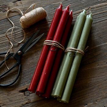 Rustikljus mossgrönt 28cm, 4-pack