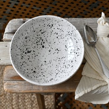 TOGO Skål vit/svart 23cm - Affari
