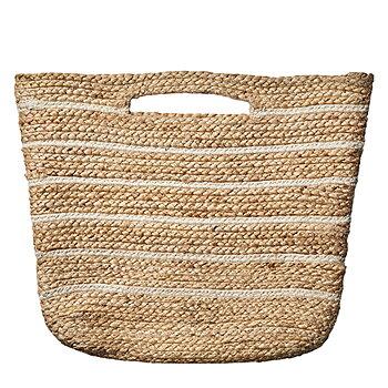 Väska i jute natur/elfenben - Affari
