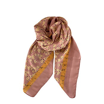 ENOLA Floral Scarf Rose - Black Colour