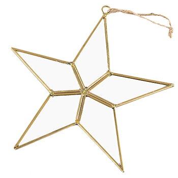 Stjärna i glas/mässing 22cm