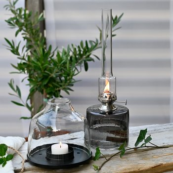 Fotogenlampa av glas - Strömshaga