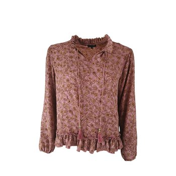 LUNA RAY Blouse Poetry Rose - Black Colour