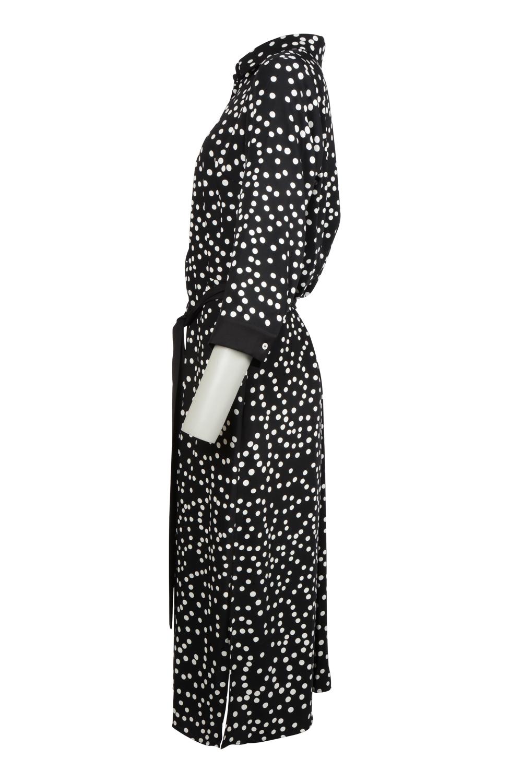 Klänning svartvit prickig Jacobssons