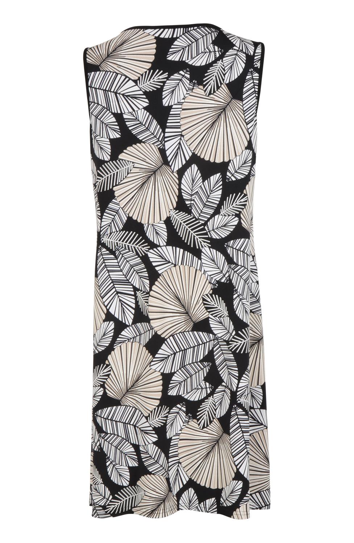 Klänning blommig svartvitbeige Jacobssons