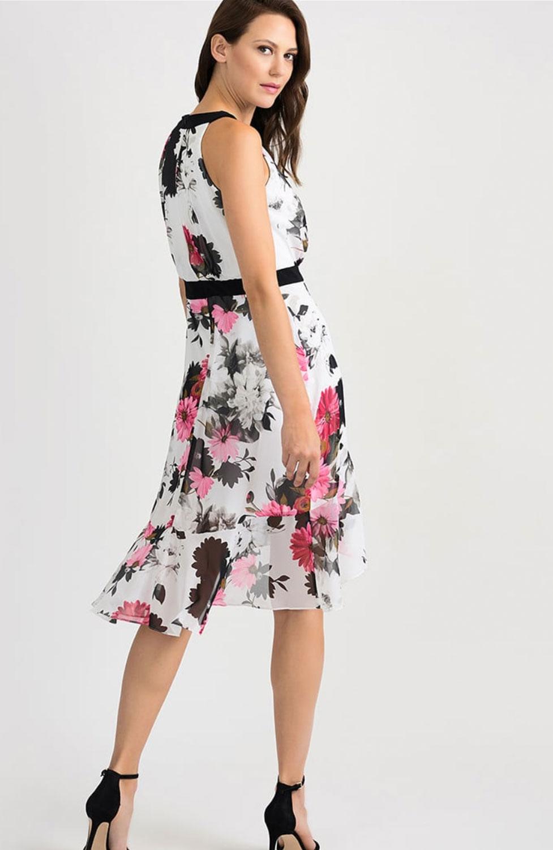 Klänning svart med rosa blommor Jacobssons