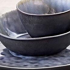 Sopp/pastaskål grå krackelerad.  Obs! Beräknas inkomma på nytt i juni