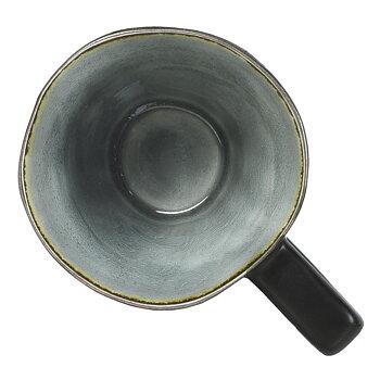 Mugg grå krackelerad
