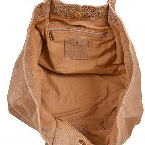 Handväska/Shopper Cognac Croc Mocka Lace