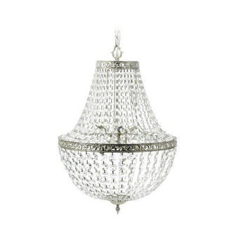 Divine Chandelier antiksilver/iron/glass D:55xH:60 cm