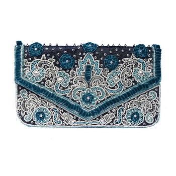 Forrest Beaded Clutch Emerald