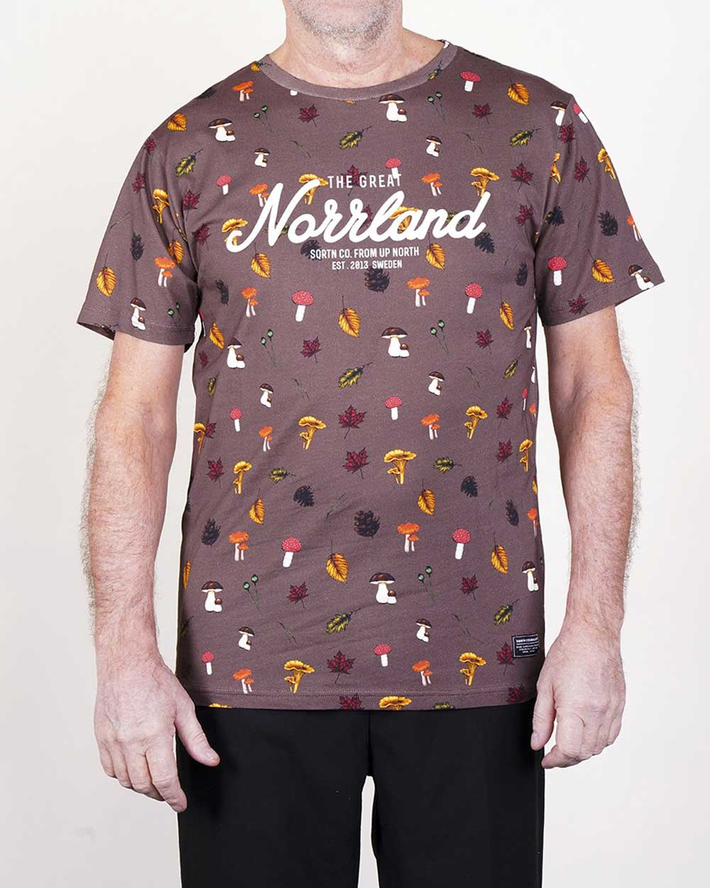 The Great Norrland Shroom Brun T Shirt