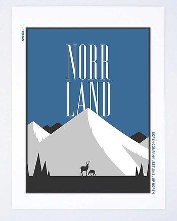 Stamped Norrland Blå Poster