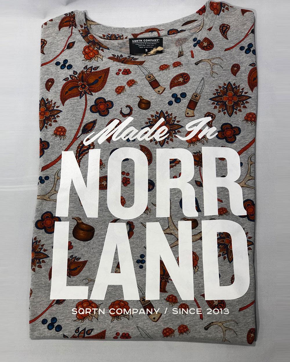 Made In Norrland Sapmi Grå T shirt