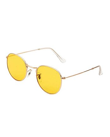 Hello Gold/Gula Solglasögon