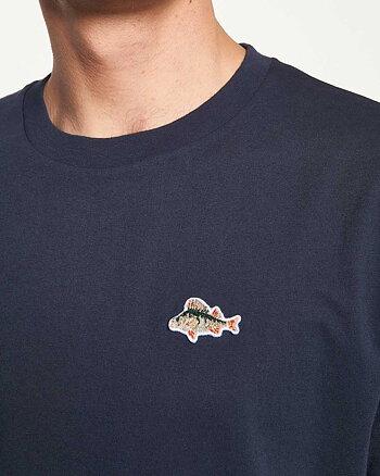 Fish Marinblå T-Shirt